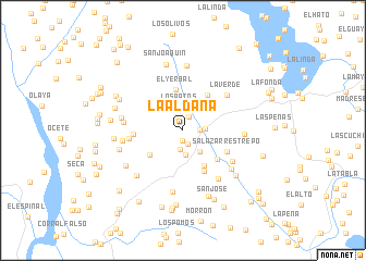 map of La Aldaña