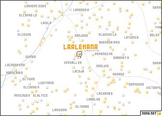 map of La Alemana