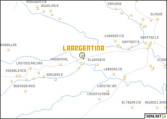 map of La Argentina
