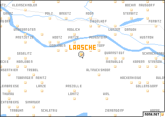 map of Laasche