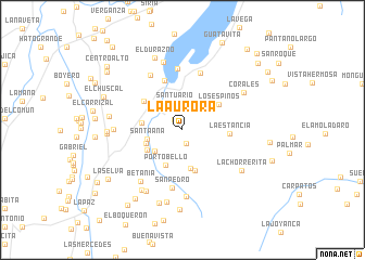 map of La Aurora