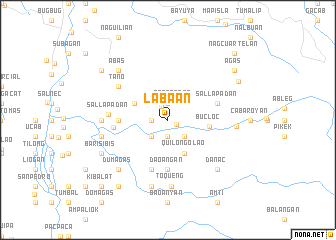 map of Labaan