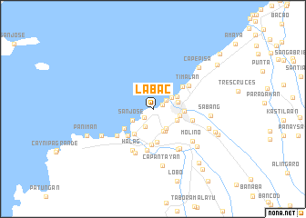 map of Labac