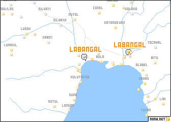 Labangal Philippines map nonanet