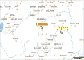 map of Labang
