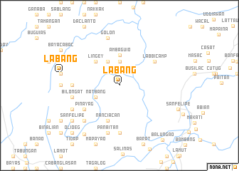map of Labang