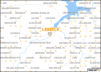 map of La Barca