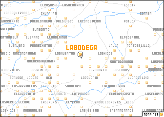 map of La Bodega