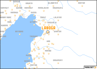 map of Laboga