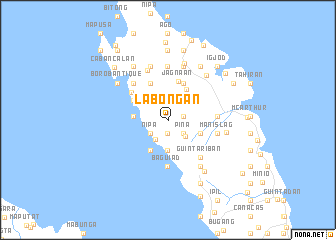 map of Labongan