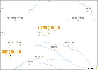 map of La Boquilla