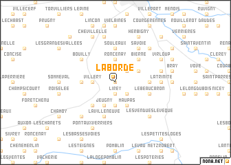map of La Borde