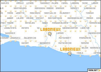 map of Laborieux