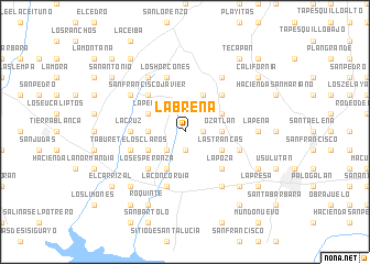 map of La Breña