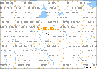 map of Labrousse