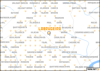 map of Labrugeira