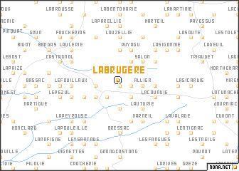 map of La Brugère