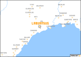 map of Labuan Sug