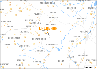 map of La Cabaña