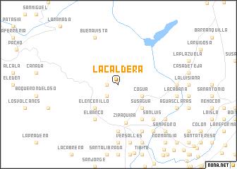 map of La Caldera