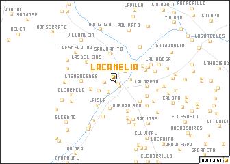map of La Camelia