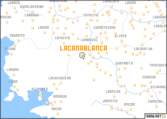 map of La Caña Blanca
