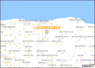 map of La Caña Brava