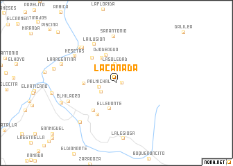 map of La Cañada