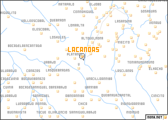 map of La Canoas