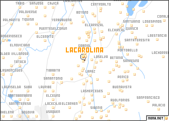 map of La Carolina