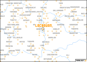 map of Lacbauan