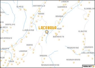 map of La Cebada