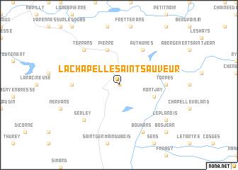 map of La Chapelle-Saint-Sauveur