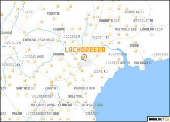 map of La Chorrera