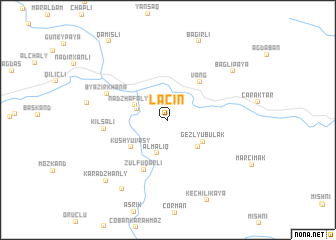 map of Laçın