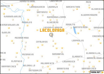 map of La Colorada