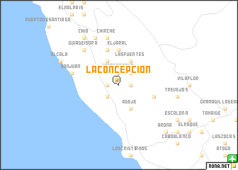 map of La Concepción