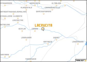 map of La Crucita