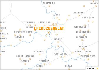 map of La Cruz de Belén