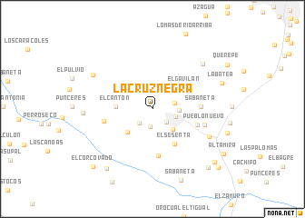map of La Cruz Negra