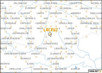 map of La Cruz