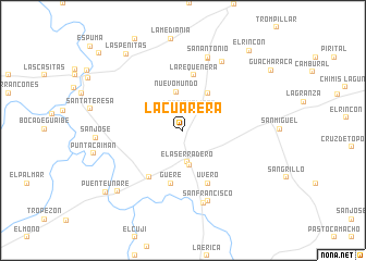 map of La Cuarera