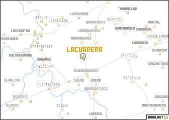 map of La Cuarera