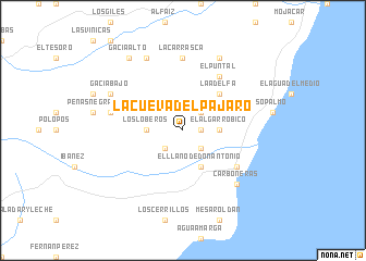 map of La Cueva del Pájaro