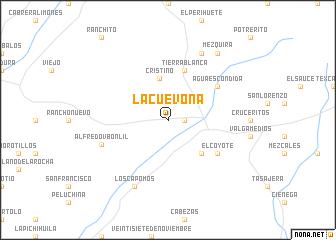 map of La Cuevona