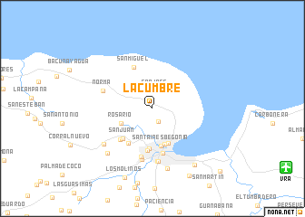 map of La Cumbre
