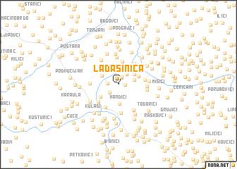 map of Lađašinica