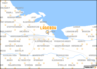 map of Ladebow