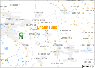 map of Ladenburg