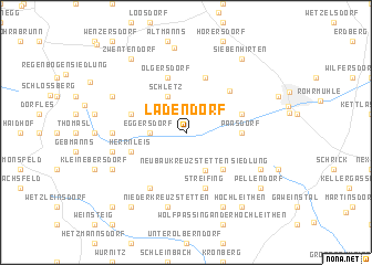 map of Ladendorf